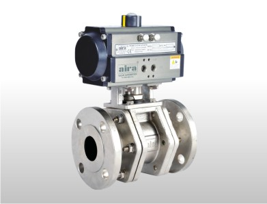 Pneumatic 3 Three Piece Metal Seated Ball Valves, Metal Seated Ball Valve