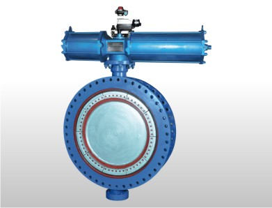 Double Flange MS fabricated Butterfly Valve