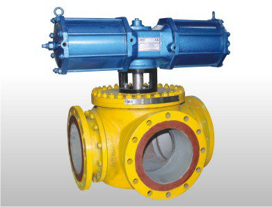 pneumatic full bore ball valve