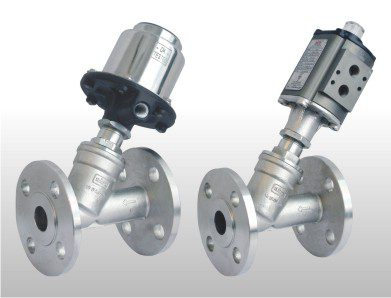 angle type control valve