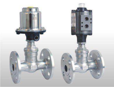 double acting globe control valve