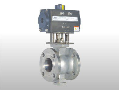 pneumatic v knotch ball valve