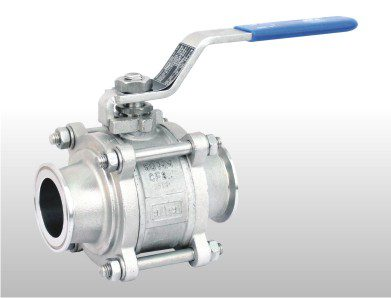 Hand lever 3 Piece Design 2 Way Ball Valve