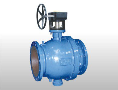 Gear Operated Trunnion Mounting 2 Way Ball Valve