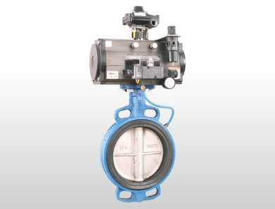Pneumatic Butterfly Valve for Liquid Slurry & Powder Media