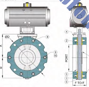 Cement Butterfly Valve Drawing