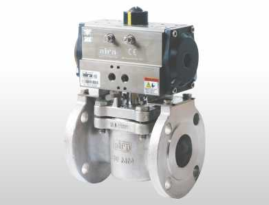 2 way plug valve flanged