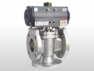 pneumatic 3 way plug valve